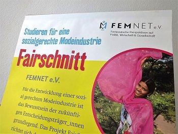 """Rollup zum Projekt auf dem Kongreß """"WeltWeitWissen"""". Foto: © FEMNET"""