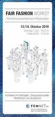 "Flyer ""Fair Fashion Works"" Konferenz 2016"